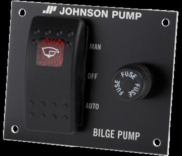 Johnson Johnson Pump Bilgepompschakelaar  24V  3-posities  inbouwdiepte 40mm  met interne verlichting