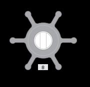 Johnson Pump impeller 1026B-1