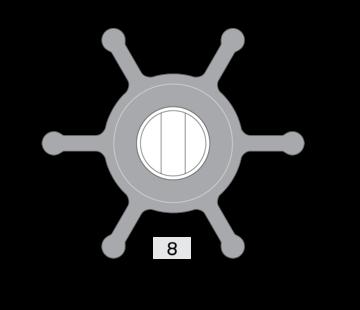 Johnson Johnson Pump impeller 1026B-1