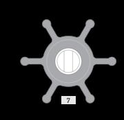 Johnson Pump impeller 810B-9