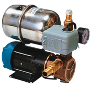 Waterdruksysteem INOX 66B  12V / 185W  12l/min (bij 0 7bar)  RVS tank 2l