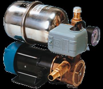 Allpa Waterdruksysteem INOX 66B  12V / 185W  12l/min (bij 0 7bar)  RVS tank 2l