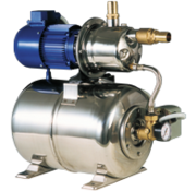 Waterdruksysteem INOX 950  24V/370W  52l/min (bij 1 2bar)  RVS tank 24l