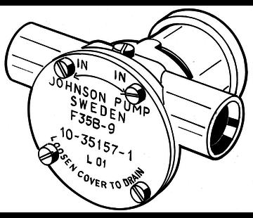 Johnson Johnson Pump zelfaanzuigende bronzen koelwater-impellerpomp F35B-9 (Volvo  BMW  Farymann)