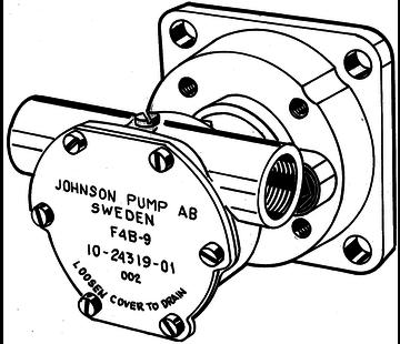 Johnson Johnson Pump bronzen koelwater-impellerpomp F4B-9 (Mitsubishi L- & K-serie met Spline PTO)