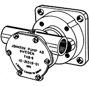 Johnson Johnson Pump zelfaanzuigende bronzen koelwater-impellerpomp F4B-9 (Ruggerini MM351  Bukh)