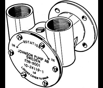 Johnson Johnson Pump zelfaanzuigende bronzen koelwater-impellerpomp F5B-9 (DTN  Nanni Mercedes)