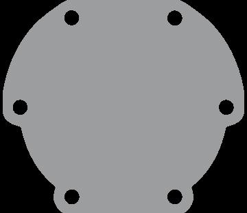 Johnson Johnson Pomp bronzen deksel voor pomp F4 (vervangt Jabsco 29475)