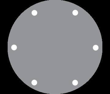 Johnson Johnson Pomp RVS deksel voor pomp F7B (met groeven voor O-ring)