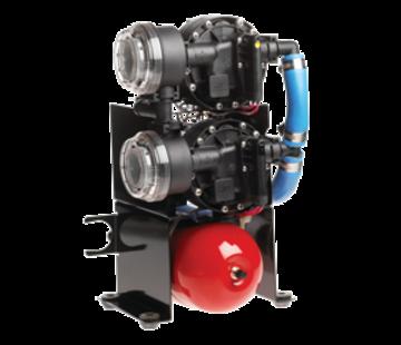 Johnson Johnson Pump Aqua Jet Duo waterdruksysteem WPS 10.4  12V/200W  36l/min  max. 2.8bar  stalen tank 2l