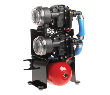 Johnson Johnson Pump Aqua Jet Duo waterdruksysteem WPS 10.4  24V/200W  36l/min  max. 2.8bar  stalen tank 2l