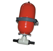 Johnson Pump accumulator (expansietank)  voordruk 0 8bar  werkdruk max. 12bar  stalen tank 2l