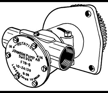 Johnson Johnson Pump zelfaanzuigende bronzen koelwater-impellerpomp F7B-9 (Hino W04D / W04CT)