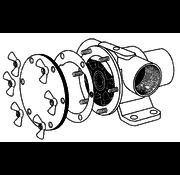 Johnson Johnson Pump set(A)  RVS vleugelmoeren Pinwing & draadeind  set A (6st. 8/32 x M4)