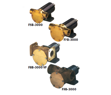 Johnson Johnson Pump impellerpomp F8B-3000TSS  279l/min  voetmontage (met mechanical seal & RVS Deksel)