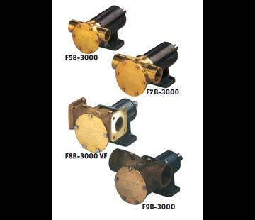 Johnson Johnson Pump impellerpomp F9B-3000TSS  389l/min  voetmontage (met mechanical seal & RVS Deksel)