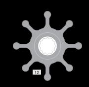 Johnson Pump impeller 1028B-9 nitriel
