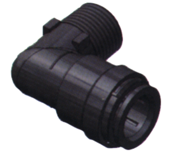 SeaTech SeaTech Quick-connect knie-stuk  Diameter 15mm x 1/2 NPT  buitendraad
