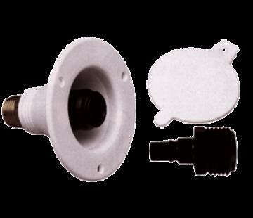 SeaTech SeaTech Quick-connect wandaansluiting (Diameter 15mm) met terugslagklep  wit