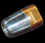 Dopmoer met zinkanode & RVS borgring voor schroefas Diameter 25mm