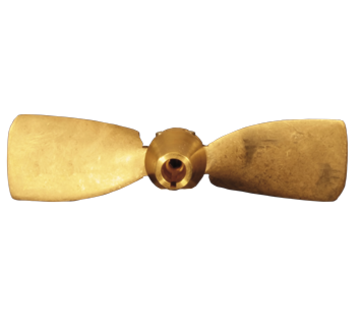 Radice Radice 2-blads bronzen klapschroef voor schroefas  12x08  asgat Diameter 25mm  conus 1:10  rechts