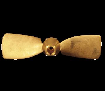 Radice Radice 2-blads bronzen klapschroef voor schroefas  13x07  asgat Diameter 25mm  conus 1:10  rechts