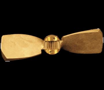 Radice Radice 2-blads bronzen klapschroef voor saildrive  17x12  links (Volvo/Yanmar/Technodrive & Nanni)