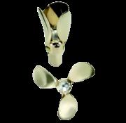 Flex-O-Fold Flex-O-Fold 3-blads-kit voor bronzen klapschroef  saildrive of schroefas  24x17  links