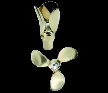 Flex-O-Fold Flex-O-Fold 3-blads-kit voor bronzen klapschroef  saildrive of schroefas  24x19  links