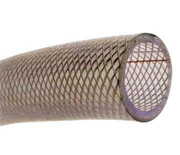 Allpa PVC Koudwaterslang transparant met polyester inlage Diameter 19x27mm  -20Graden C tot +60Graden C  max.14bar  20Graden C