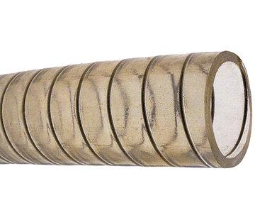 Allpa PVC Koudwaterslang  transparant met stalen spiraal  Diameter 25x33mm  -15Graden C tot +65Graden C  max. 5bar  20Graden C