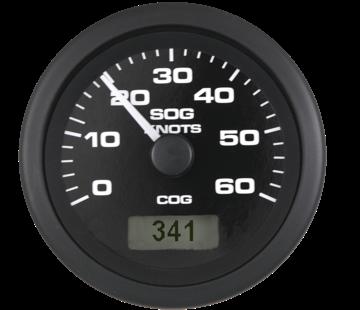 Allpa Premier Pro GPS snelheidsmeter 30 knopen  zwart met zwarte rand