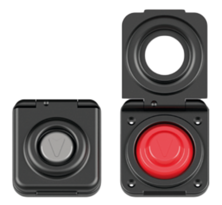 Antal Aluminum Switch with Red rubber top