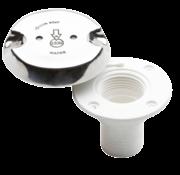 dekvuldop  Kunststofhuis -RVS deksel  'WATER'  slangaansluiting Diameter 38mm