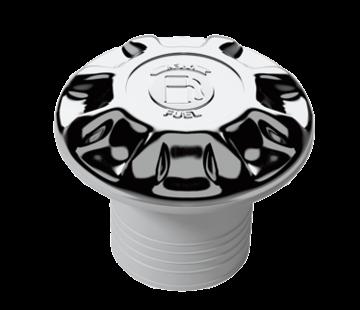 Allpa dekvuldop Kunststof-verchroomde  'FUEL'  slangaansluiting Diameter 50mm flensmaat Diameter 88mm gatmaat Diameter 50m