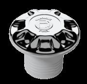 Kunststof-verchroomde  'WATER'  slangaansluiting Diameter 38mm flensmaat Diameter 88mm