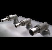 Allpa Brandstoftank RVS 32l  600x350x170mm met flensplaat