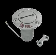 RVS Dekvuldop 'Fuel'  slangaansluitingDiameter 38mm  flensDiameter 76mm  0Graden  model