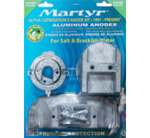 Aluminium Anode kit Alpha-1-Gen II >1991