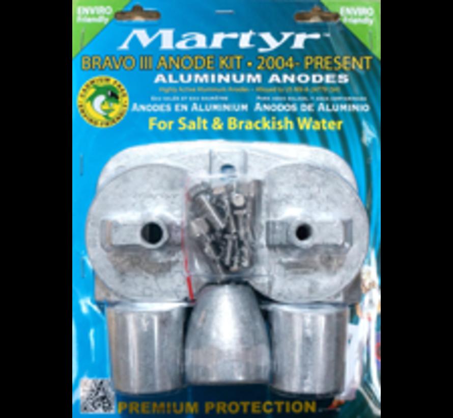 Aluminium Anode kit Bravo 3 2004