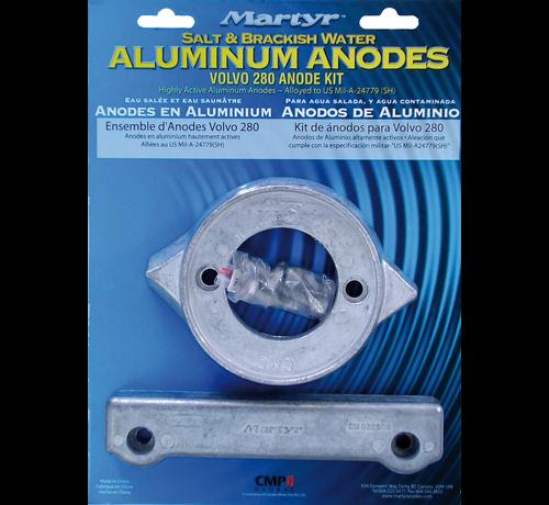 Aluminium Anode kit Volvo 280