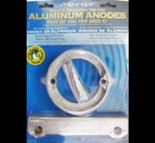 Allpa  Aluminium Anode kit Volvo 280 Dual Prop