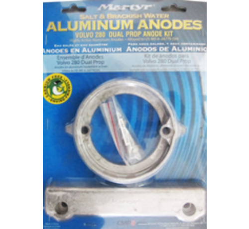 Aluminium Anode kit Volvo 280 Dual Prop