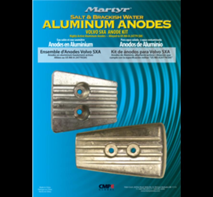 Aluminium Anode kit Volvo SX-A / DPS