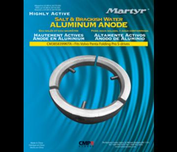 Allpa Aluminium Anode kit Volvo folding Prop 3-blads