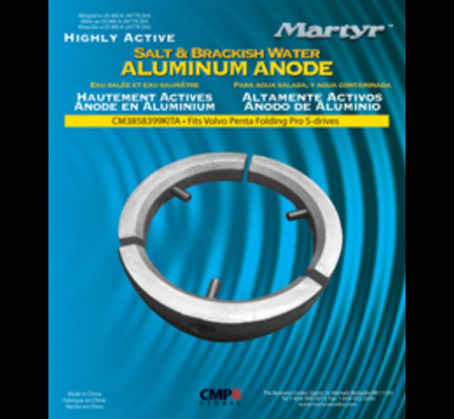 Aluminium Anode kit Volvo folding Prop 3-blads