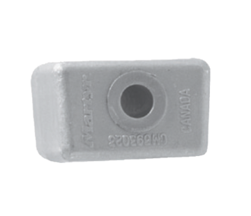 Allpa Aluminium Anode OMC / Johnson / Evinrude  Block V4/V6 (OEM 393023)
