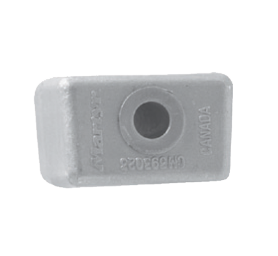 Aluminium Anode OMC / Johnson / Evinrude  Block V4/V6 (OEM 393023)