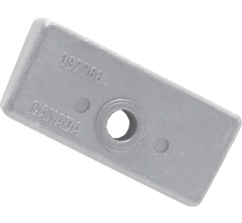 Allpa  Aluminium Anode OMC / Johnson / Evinrude  Block (OEM 397768)