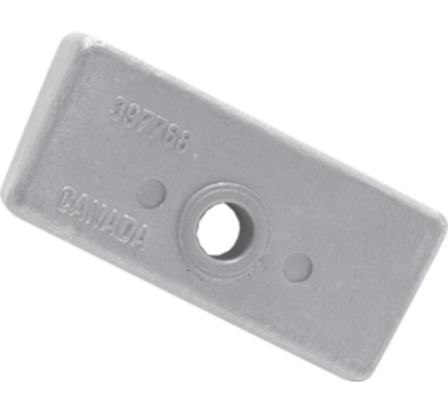 Aluminium Anode OMC / Johnson / Evinrude  Block (OEM 397768)